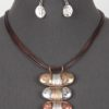 Wrapped Up Necklace in Tri Color